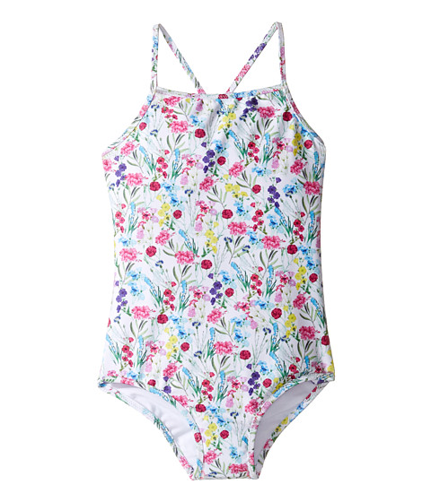 Oscar de la Renta Childrenswear Botanical Flora Classic Swimsuit (Toddler/Little Kids/Big Kids)