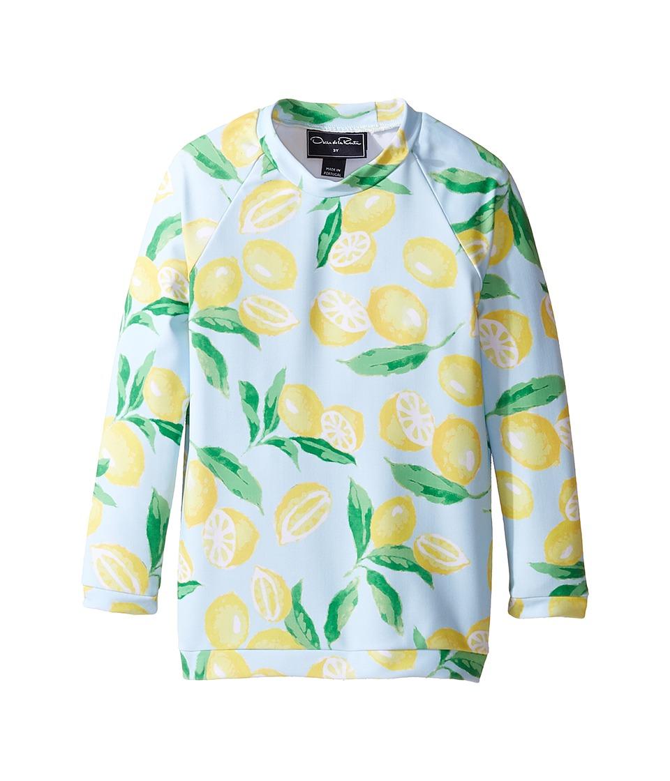 Oscar de la Renta Childrenswear Painted Lemons Rashguard (Toddler/Little Kids/Big Kids) (Capri/Lemon) Girl