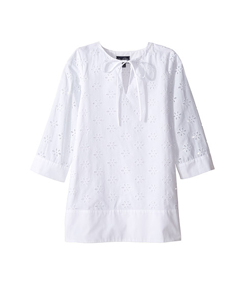 Oscar de la Renta Childrenswear Cotton Eyelet Caftan (Toddler/Little Kids/Big Kids)