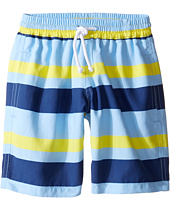 Oscar de la Renta Childrenswear - Striped Classic Swim Shorts (Toddler/Little Kids/Big Kids)