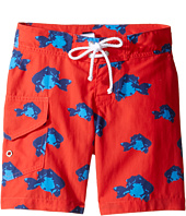 Oscar de la Renta Childrenswear - Fish Surfer Boardshorts (Toddler/Little Kids/Big Kids)