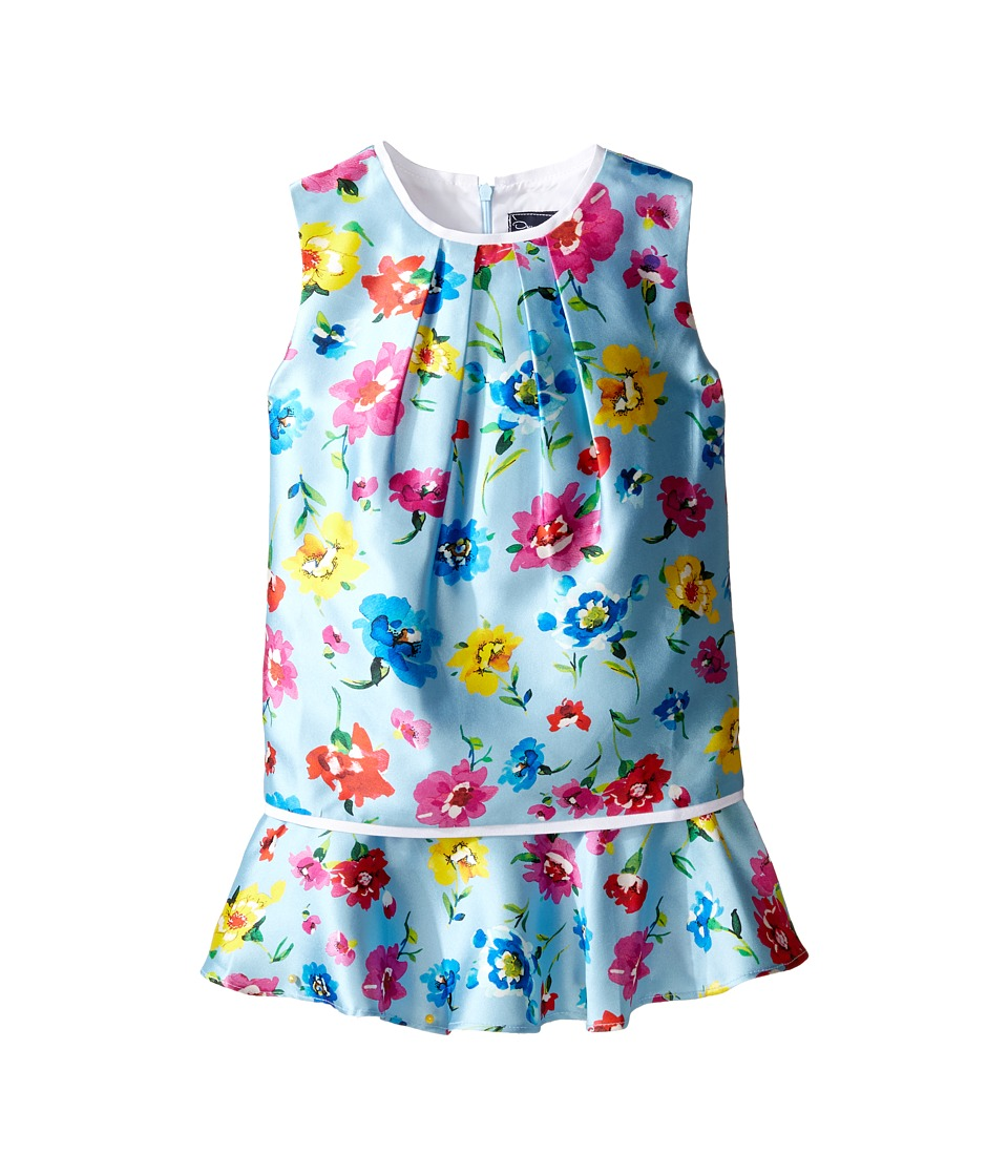 Oscar de la Renta Childrenswear - Scattered Flower Mikado Multi Layer Dress