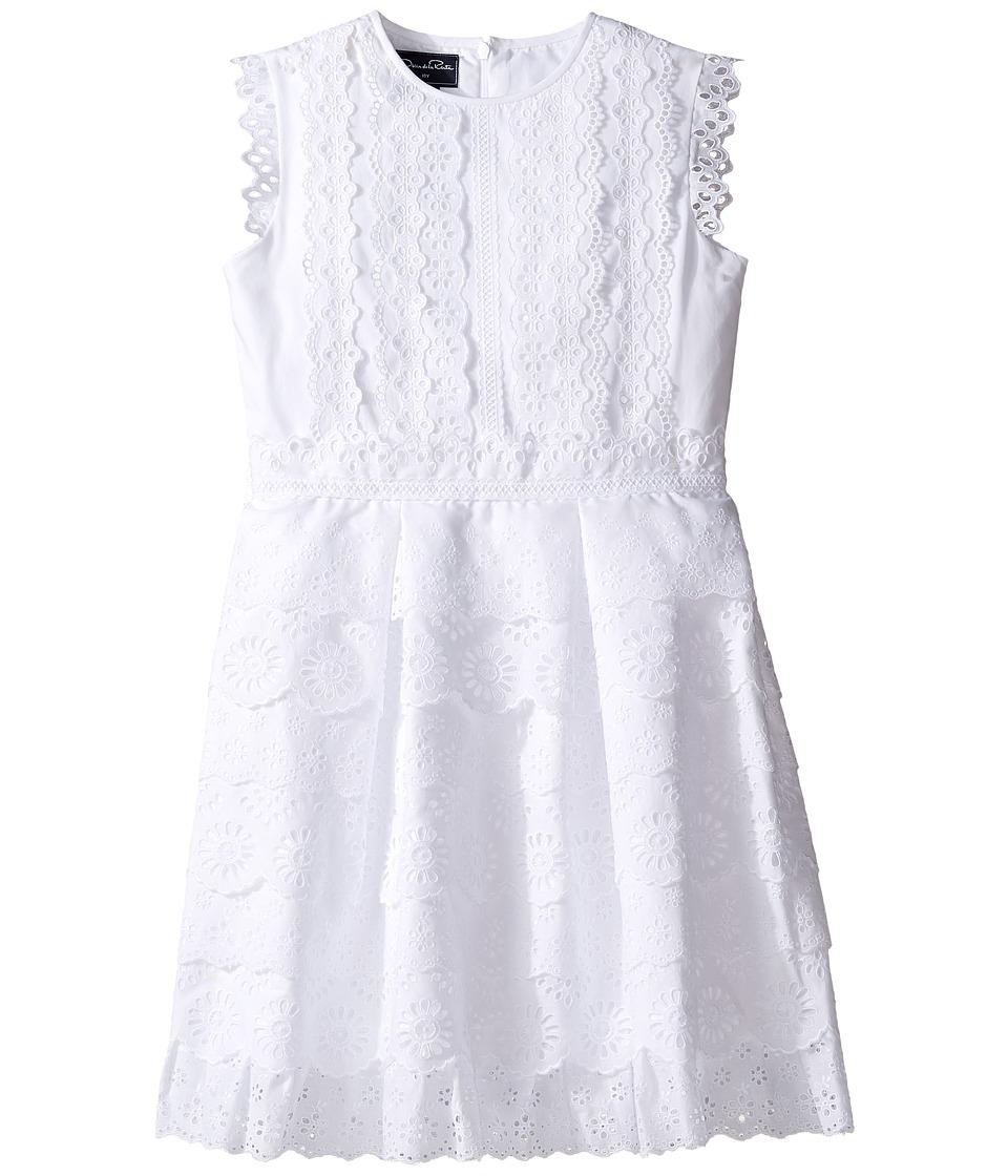 Oscar de la Renta Childrenswear - Cotton Eyelet Dress