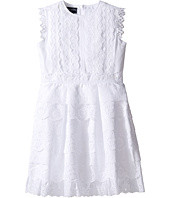 Oscar de la Renta Childrenswear - Cotton Eyelet Dress (Toddler/Little Kids/Big Kids)
