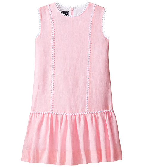 Oscar de la Renta Childrenswear Linen Drop Waist Dress (Toddler/Little Kids/Big Kids)