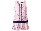 Oscar de la Renta Childrenswear - Mini Daisy Toss Cotton Drop Waist Dress (Toddler/Little Kids/Big Kids)