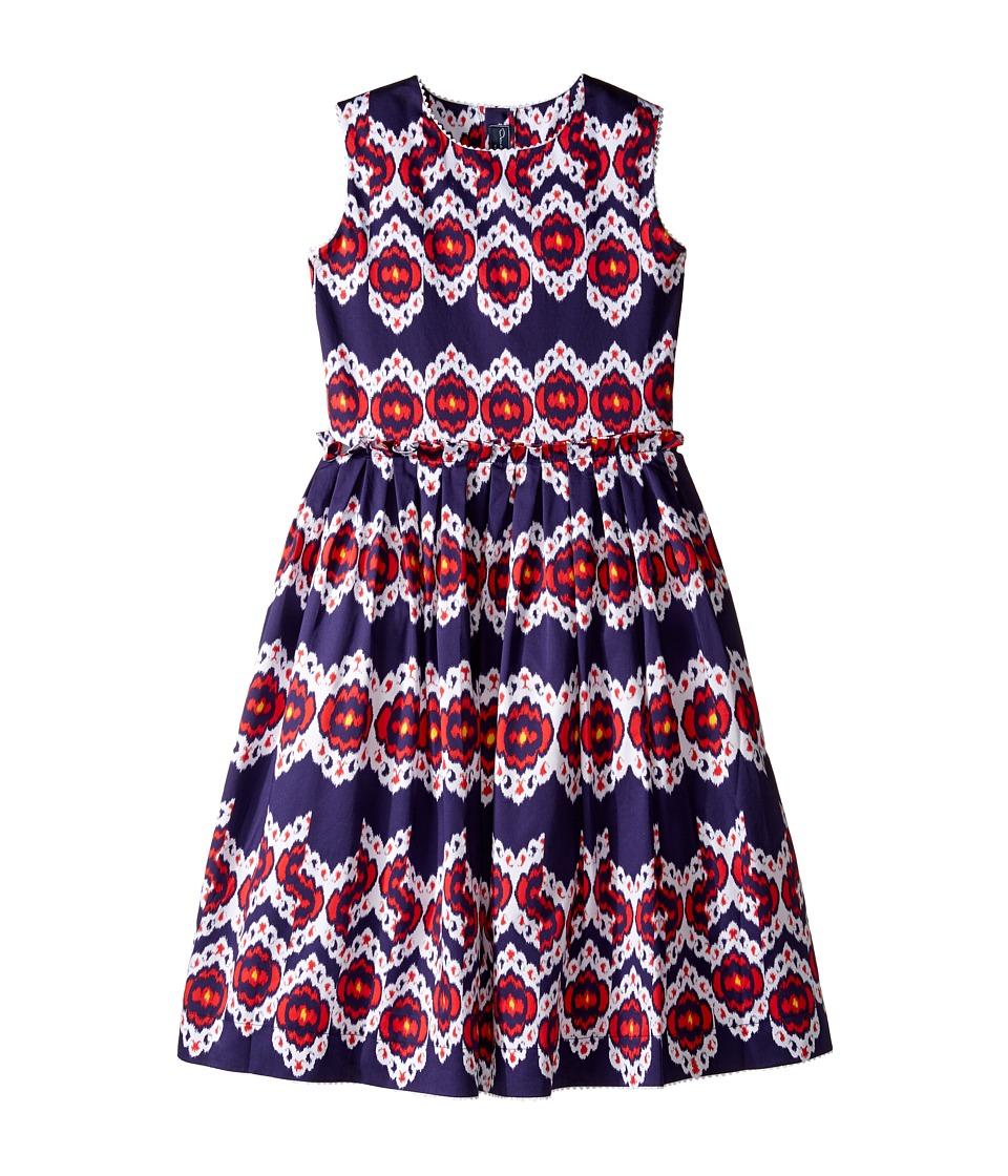 Oscar de la Renta Childrenswear - Ikat Cotton Gathered Skirt Party Dress