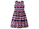 Oscar de la Renta Childrenswear - Ikat Cotton Gathered Skirt Party Dress (Toddler/Little Kids/Big Kids)