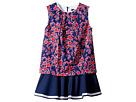 Oscar de la Renta Childrenswear - Graphic Floral Cotton Multi Layer Dress (Toddler/Little Kids/Big Kids)