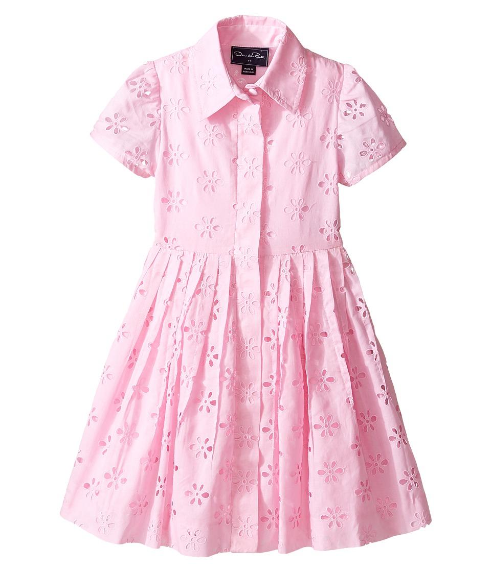 Oscar de la Renta Childrenswear - Cotton Eyelet Shirtdress