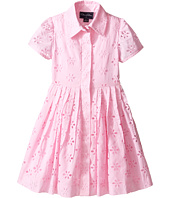 Oscar de la Renta Childrenswear - Cotton Eyelet Shirtdress (Toddler/Little Kids/Big Kids)