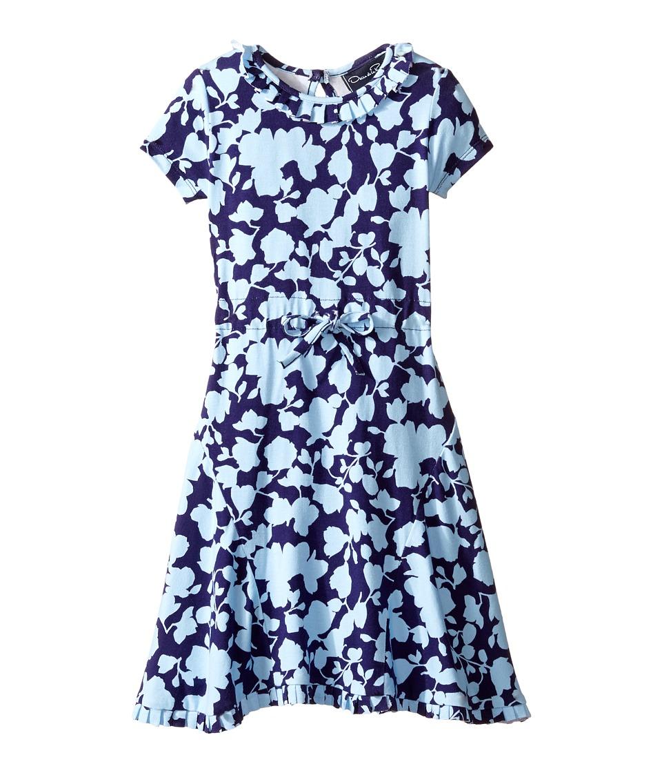 Oscar de la Renta Childrenswear - Flower Silhouette Jersey Dress