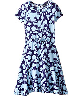 Oscar de la Renta Childrenswear - Flower Silhouette Jersey Dress (Toddler/Little Kids/Big Kids)