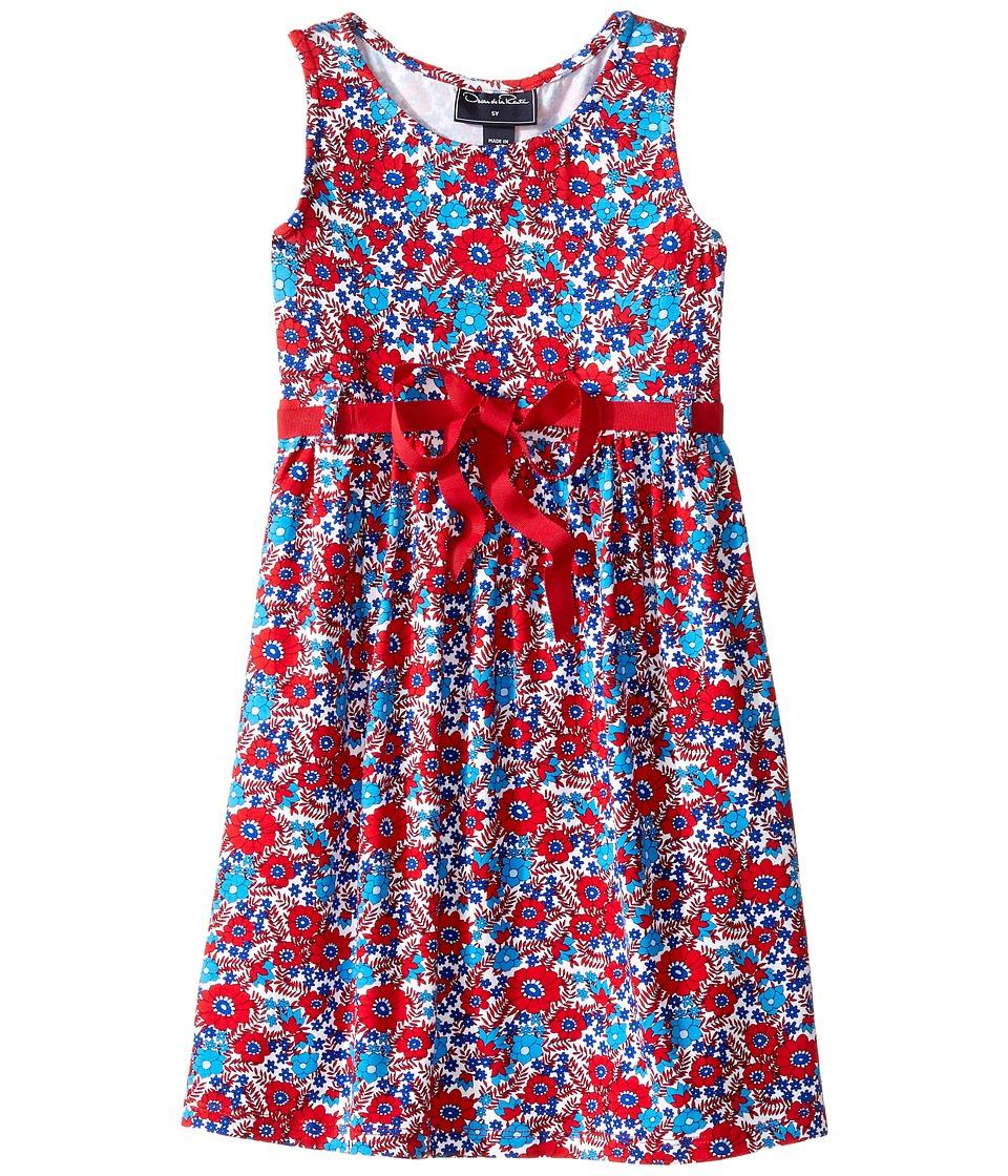 Oscar de la Renta Childrenswear - Blossom Vignette Jersey Sundress