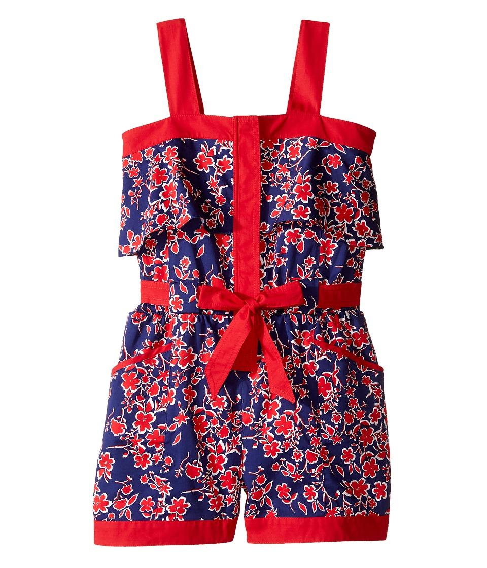 Oscar de la Renta Childrenswear - Graphic Floral Cotton Romper
