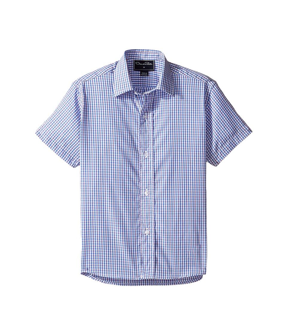 Oscar de la Renta Childrenswear - Check Cotton Short Sleeve Woven