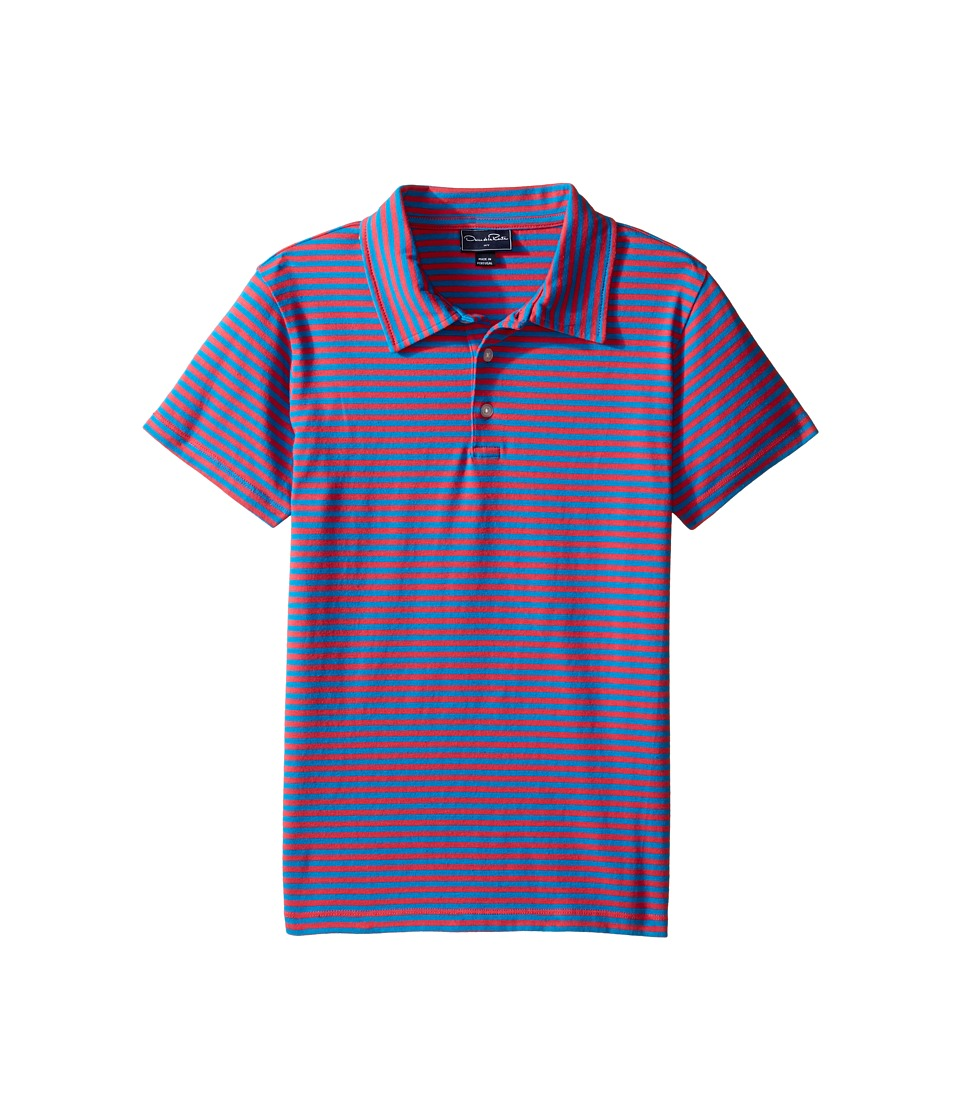 Oscar de la Renta Childrenswear - Striped Short Sleeve Polo