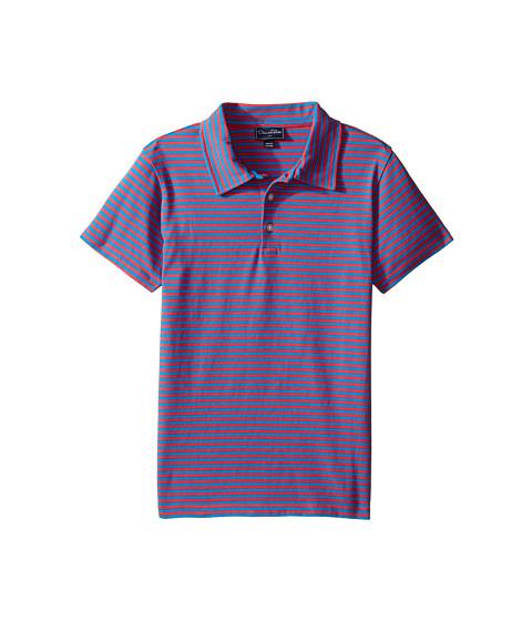Oscar de la Renta Childrenswear Striped Short Sleeve Polo (Toddler/Little Kids/Big Kids)