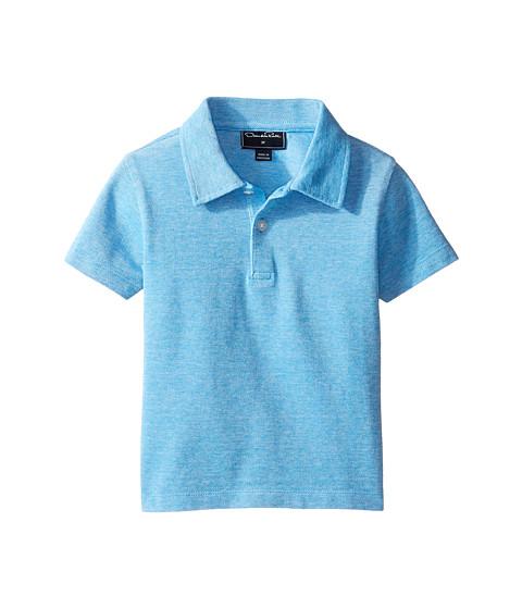 Oscar de la Renta Childrenswear Heathered Short Sleeve Polo (Toddler/Little Kids/Big Kids)