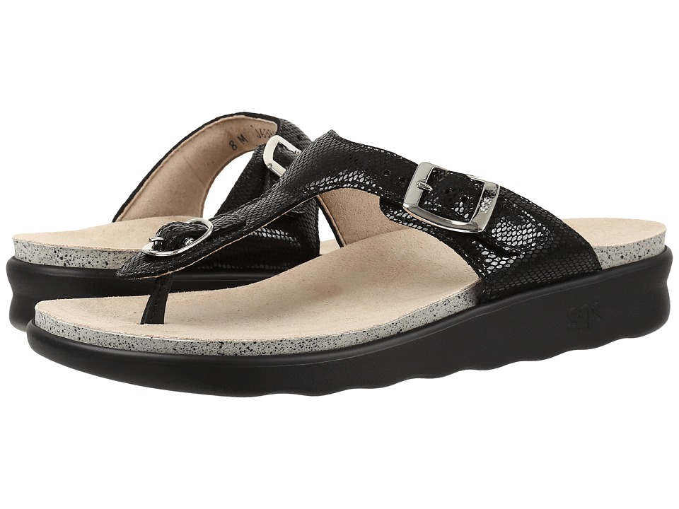 SAS - Sanibel (Black Snake) Women's Shoes