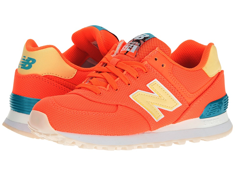 New Balance Classics WL574 Miami Palms (Sunrise/Vivid Ozone Blue) Women