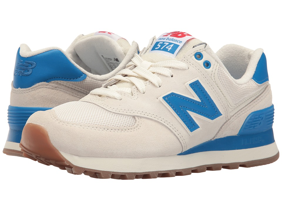 New Balance Classics WL574 Retro Sport (Sea Salt/Electric Blue) Women