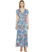 Brigitte Bailey - Jamya Cap Sleeve Printed Maxi Dress