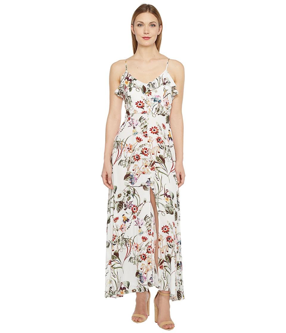 Brigitte Bailey Aileen Spaghetti Strap Button Up Maxi Dress (Ivory) Women
