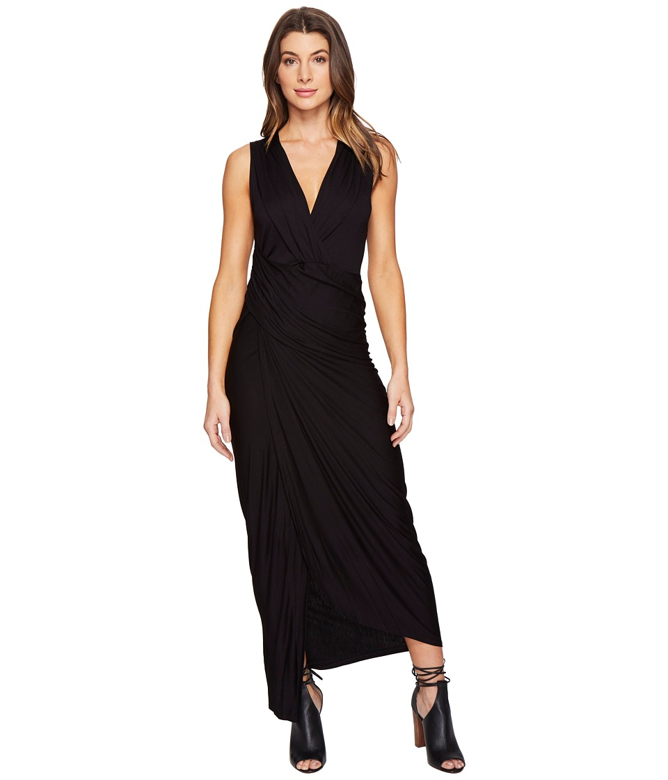 Culture Phit Izabella Sleeveless Wrap Maxi Dress (Black) Women