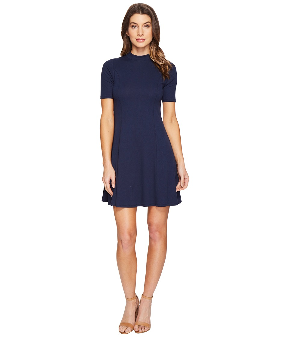 Culture Phit Fleta Mock Neck Dress (Navy) Women