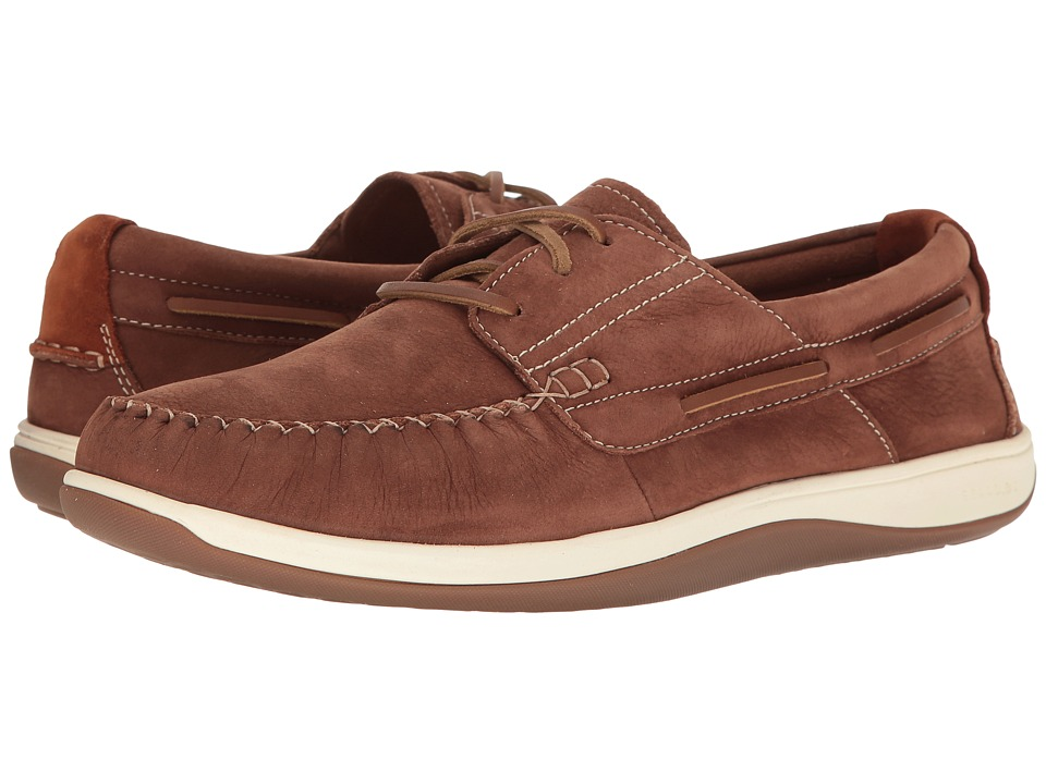Cole Haan Boothbay Boat Shoe (Harvest Brown Nubuck) Men
