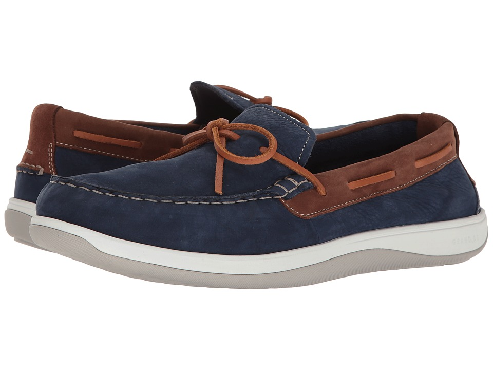 Cole Haan Boothbay Camp Moccasin (Marine Blue Nubuck) Men