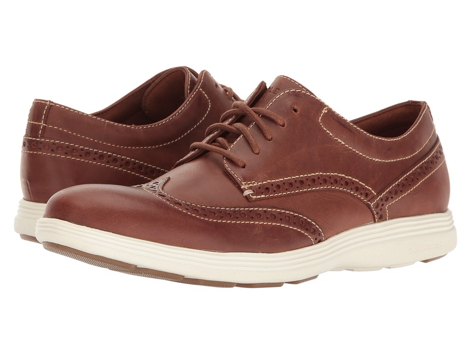 Cole Haan Grand Tour Wing Oxford (Woodbury Leather/Ivory/Gum) Men