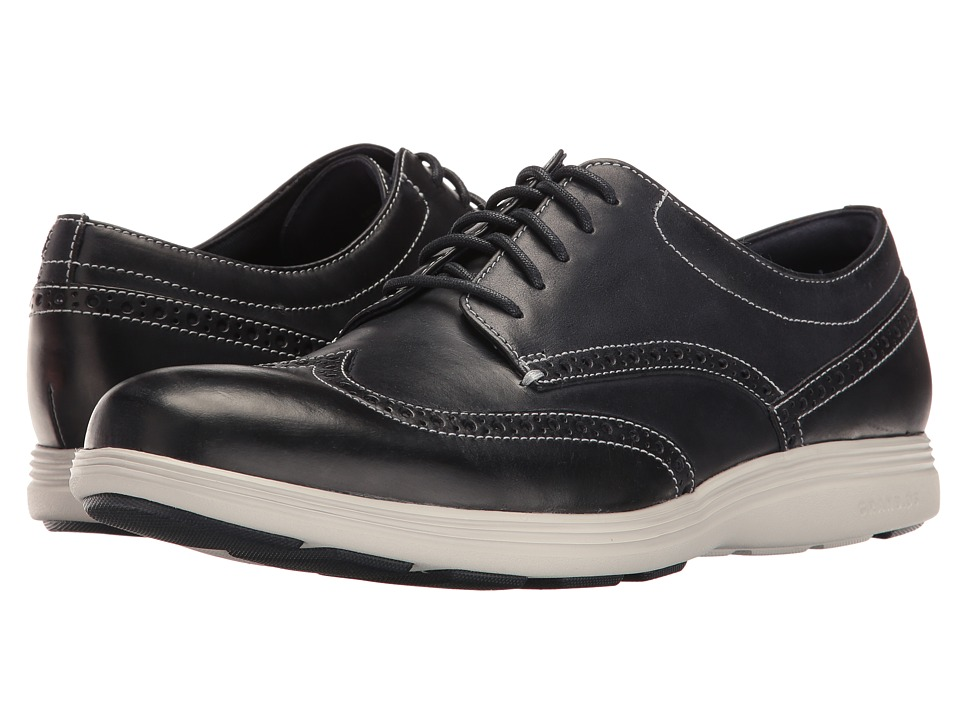 Cole Haan Grand Tour Wing Oxford (Navy Ink Leather/Vapor Grey) Men