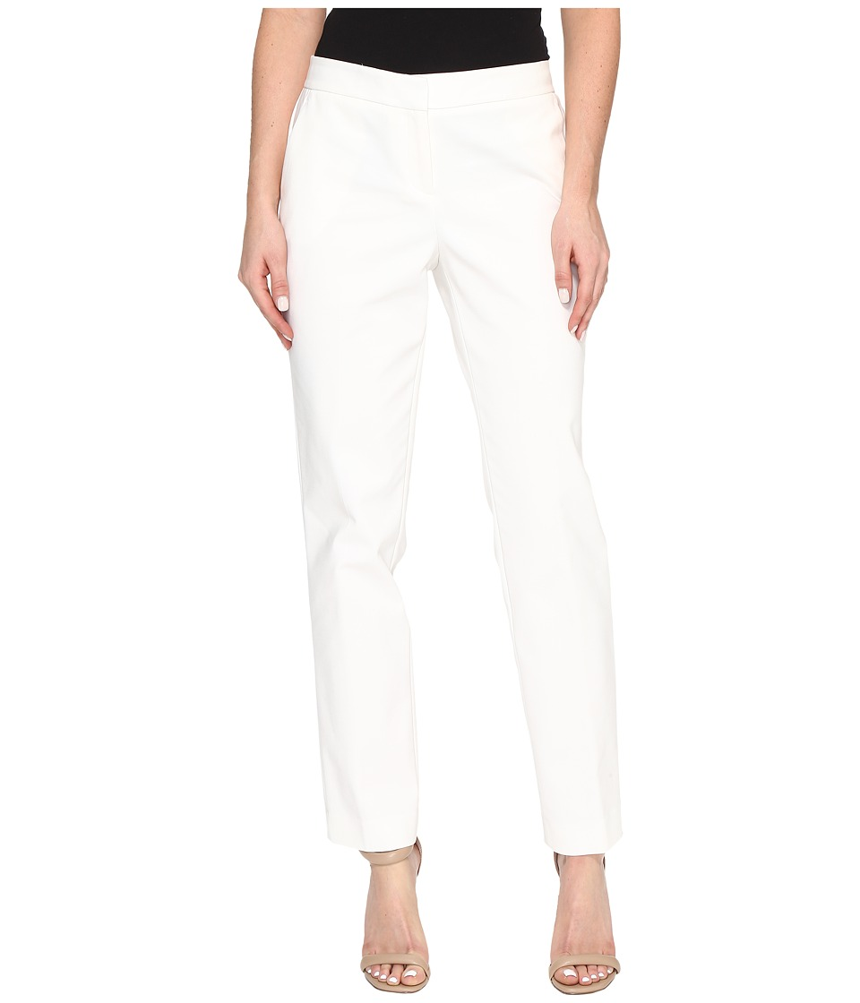Vince Camuto - Doubleweave Front Zip Ankle (New Ivory) Women's Casual Pants
