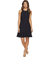 Rebecca Taylor - Sleeveless Stretch Texture Ruffle Dress