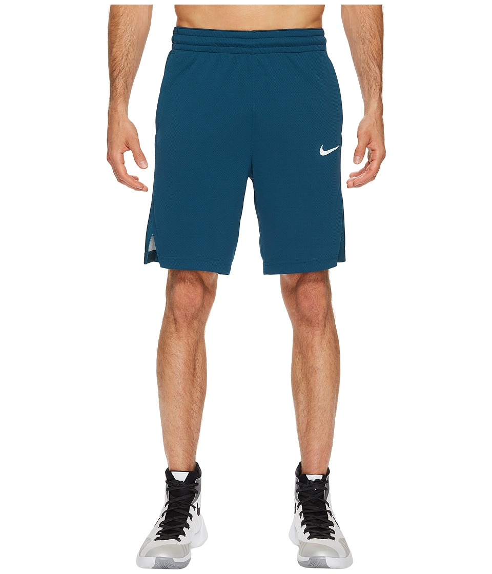 Nike Elite Stripe Basketball Short (Space Blue/Space Blue/Igloo/Igloo) Men