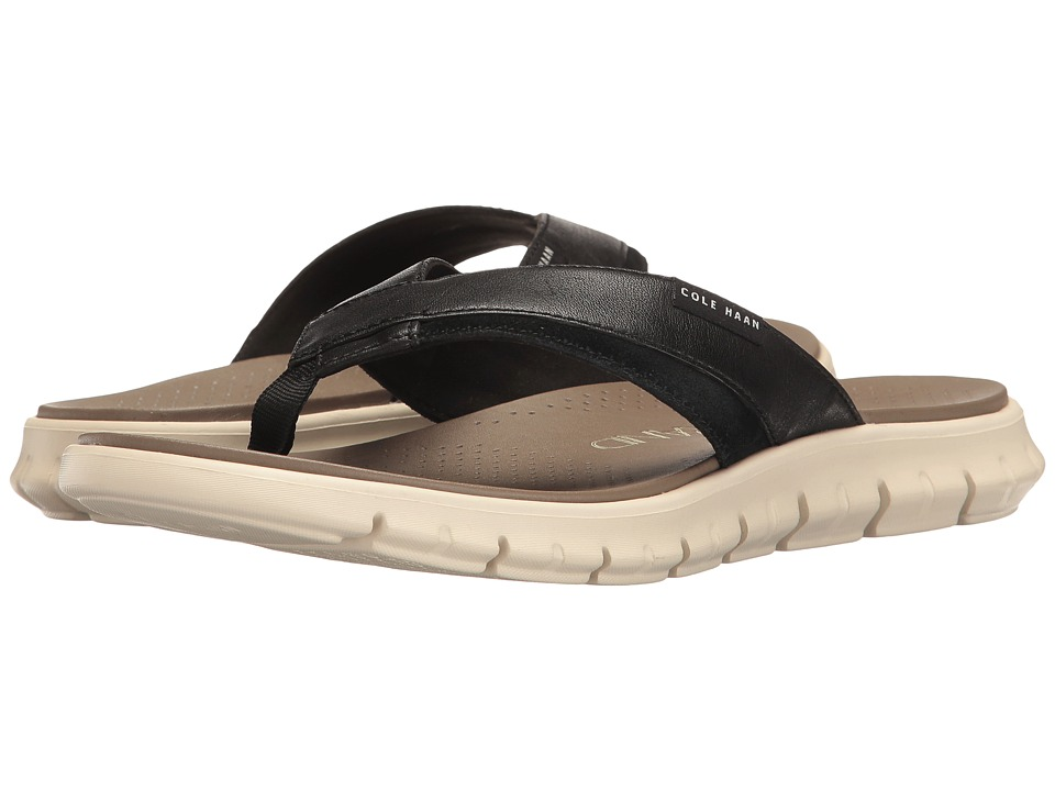 Cole Haan Zerogrand Fold Thong (Black/Ivory) Men