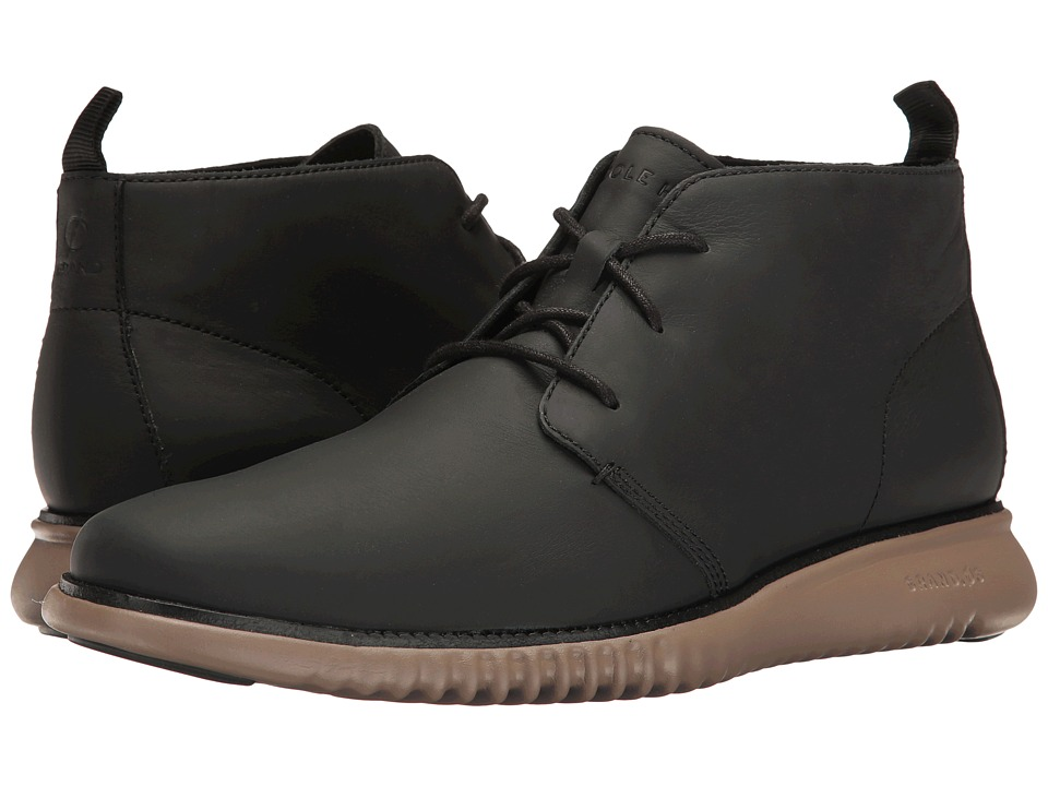 Cole Haan 2.Zerogrand Chukka (Black Leather/Sea Otter) Men
