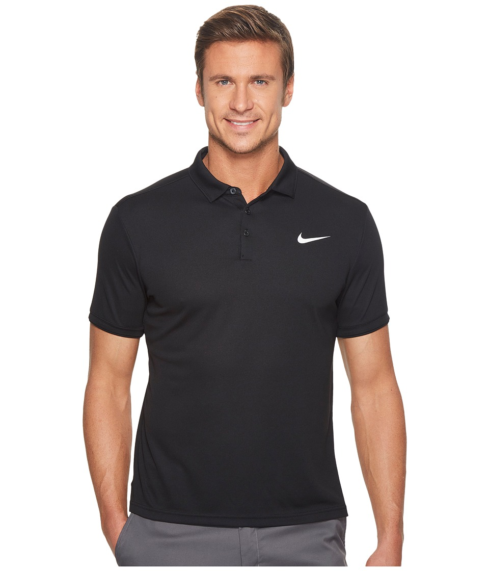 Nike Court Dry Tennis Polo (Black/Black/White) Men