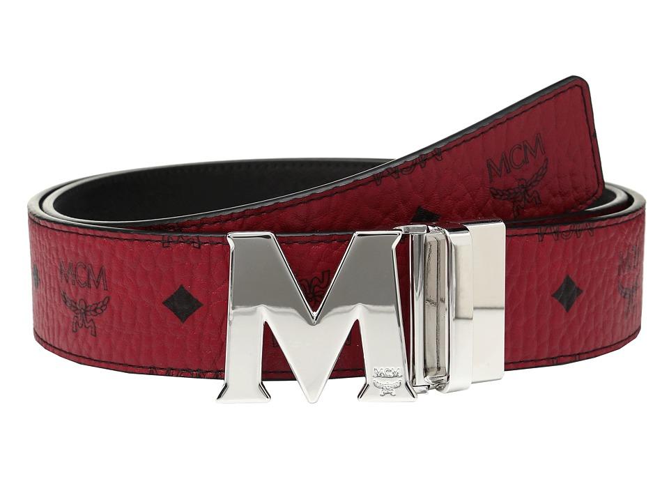 MCM - Claus Reversible Silver Buckle Belt