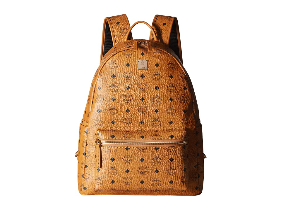 MCM - Stark No Stud Medium Backpack (Cognac) Backpack Bags