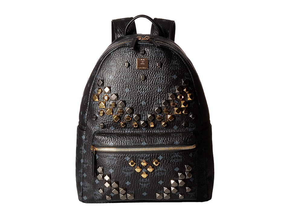 MCM - Stark M Stud Medium Backpack (Black) Backpack Bags