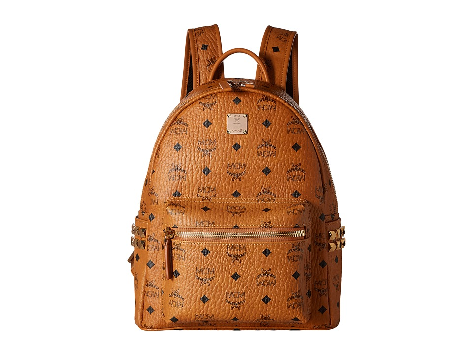 MCM - Stark Side Stud Small Backpack (Cognac) Backpack Bags