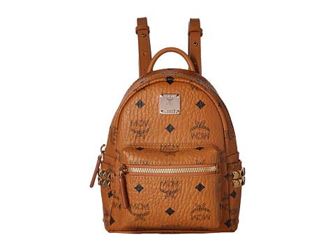 MCM Stark Side Stud Mini Backpack - Cognac