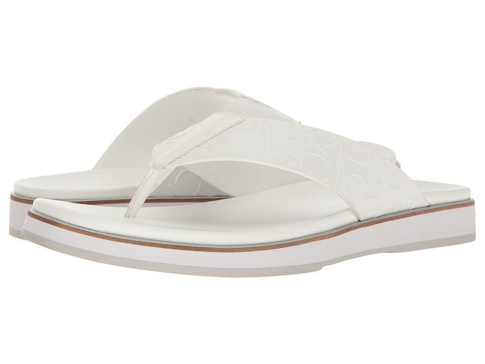 Calvin Klein Deano (White Emboss Leather) Men