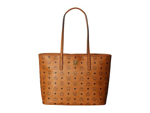 MCM Anya Shopper Top Zip Medium Shopper - Cognac