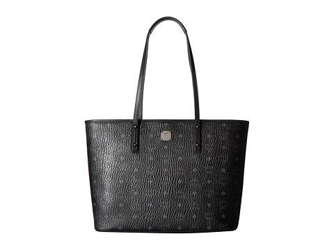 MCM Anya Shopper Top Zip Medium Shopper - Black
