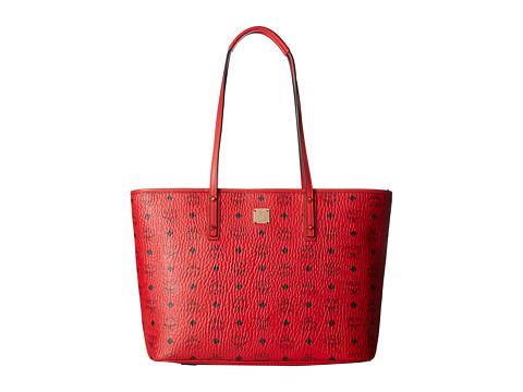 MCM Anya Shopper Top Zip Medium Shopper - Ruby Red
