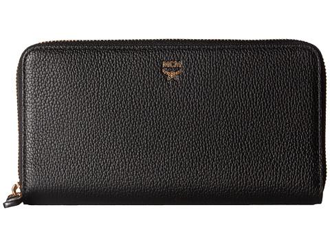 MCM Milla Large Zip Around Wallet - Black